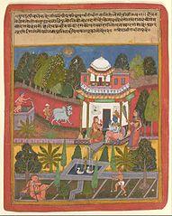 Praudha Dhiradhira Nayika, from an illustrated Rasikapriya of Keshavadas (1555-1617)