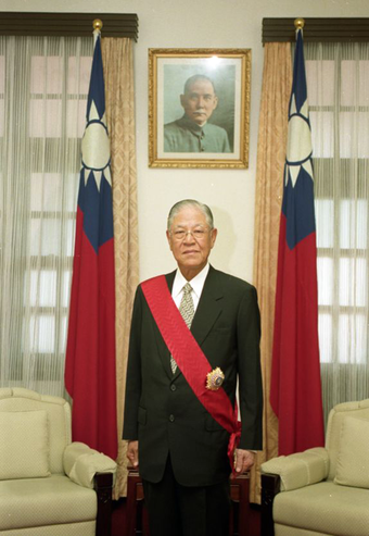 In 1988, Lee Teng-hui became the first president of the Republic of China born in Taiwan and was democratically elected in 1996. President Lee teng hui.png