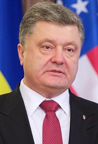 Ukrainian presidential election, 2014 - Image: President Poroshenko Addresses the Media February 2015