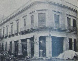 Yellow fever in Buenos Aires - The house where the first case was registered (Caras y Caretas 1899)