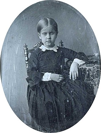 Princess Leopoldina of Brazil - Leopoldina at age 6, c. 1853