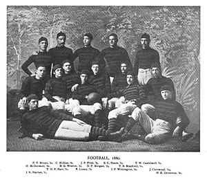 1880 Princeton Tigers football team - Image: Princeton football team, 1880