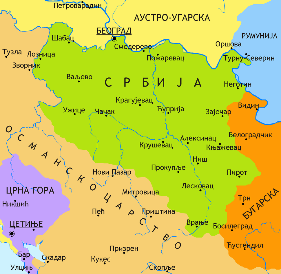 Principality of Serbia in 1878 SR