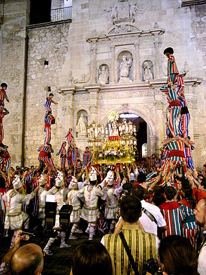 Fiestas of National Tourist Interest of Spain - Muixerangers of the procession of la Mare de Déu de la Salut of Algemesí.