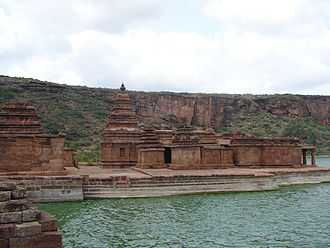 Bhutanatha group of temples, Badami - Rear view of Bhutanatha temple complex at Badami