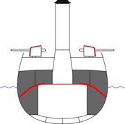 Protected cruiser schematic