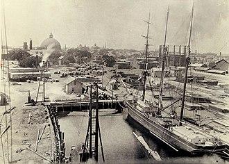 Bold Point - Providence Dry Dock and Marine Company at Bold Point circa 1910