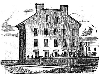 Provident Institution for Savings in the Town of Boston - Provident Savings building (built 1833), adjacent to King's Chapel Burying Ground, Tremont Street, Boston, 1833-1856