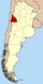Lage der Provinz San Juan