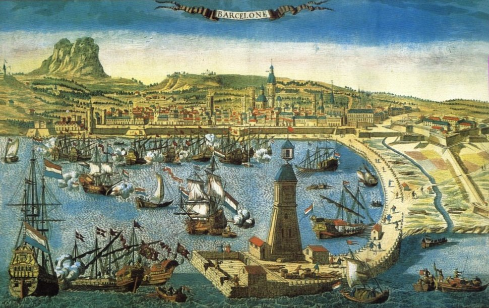 Port of Barcelona in the 18th century