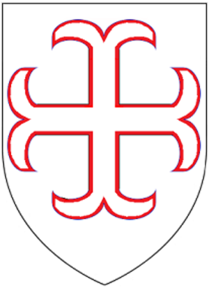 Manor of Heanton Punchardon - Arms of Punchardon of Little Bovey: Argent, a cross cerclée voided gules