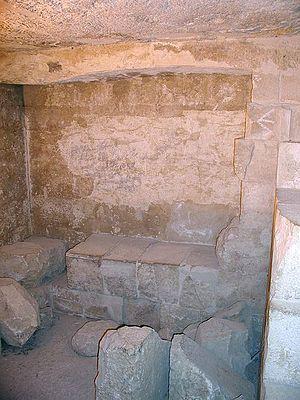 Pyramid G1-a - Cave in Pyramid G1-a