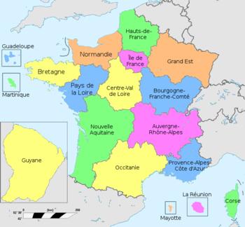 Région (France) - Vikidia, l'encyclopédie des 8-13 ans