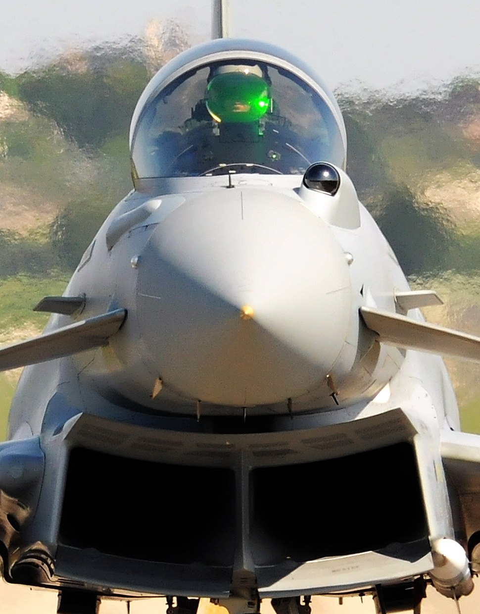 RAF Typhoon Prepares for Takeoff from Italy on Libyan Mission MOD 45152843