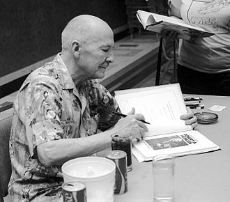 34th World Science Fiction Convention - Heinlein at the blood donor's reception, Hotel Continental