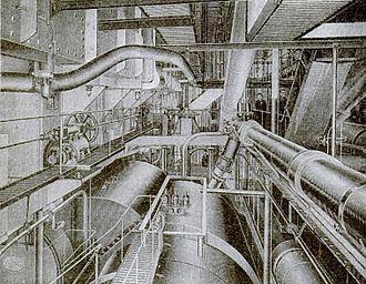 RMS Carmania (1905) - Image: RMS Carmania Engineroom