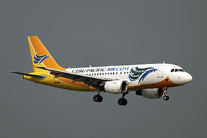 Cebu Pacific - One of Cebu Pacific's Airbus A319s at Hong Kong International Airport.