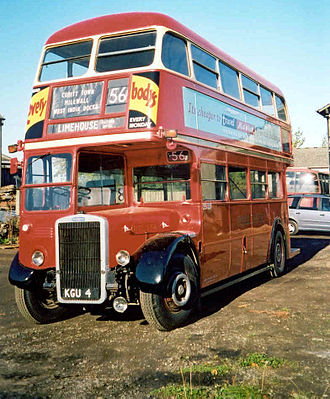 Leyland Titan (front-engined double-decker) - Metro-Cammell-bodied Leyland Titan PD2-7RT, London Transport fleet number RTL554.