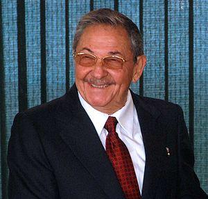 {{pt|1=Presidente de Cuba, Raúl Castro.