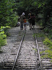 Rail trail-Kiso shinrin-Railway,木曾森林鉄道廃線跡.JPG