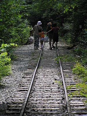 Kiso Forest Railway - Image: Rail trail Kiso shinrin Railway,木曾森林鉄道廃線跡