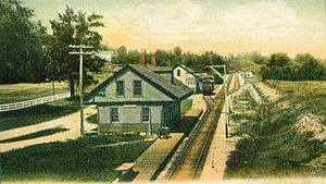Boscawen, New Hampshire - Image: Railroad Station, Boscawen, NH