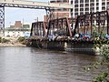 Railroad bridge east, Cedar Rapids, June 22 2008.jpg