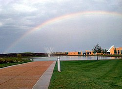 Rainbow at St. Charles Community College in Cottleville, October 2011
