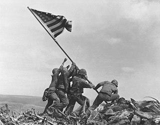 <i>Raising the Flag on Iwo Jima</i> famous photograph taken during World War II