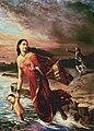 Raja Ravi Varma, Ganga and Shantanu (1890).jpg