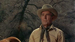 English: Randolph Scott in Buchanan Rides Alon...