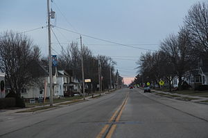 Randolph, Wisconsin - Looking south in Randolph on WIS 73