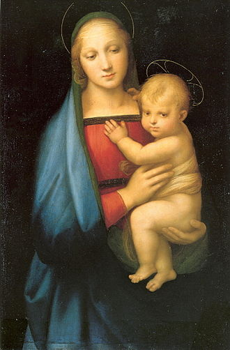 Salve Regina - Madonna by Raphael, an example of Marian art