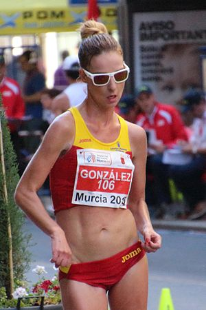 Raquel González - González at the 2015 European Cup Race Walking
