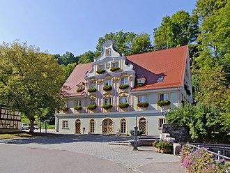 Königsbronn - Town hall in Königsbronn (Baden-Württemberg),