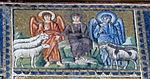 Ravenna, sant'apollinare nuovo, int., storie cristologiche, epoca di teodorico 02,1 divisione delle pecore dai capretti.jpg