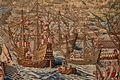 Real Alcázar. Salón de los Tapices. Paño VII. Toma de la Goleta (detalle) 01.jpg