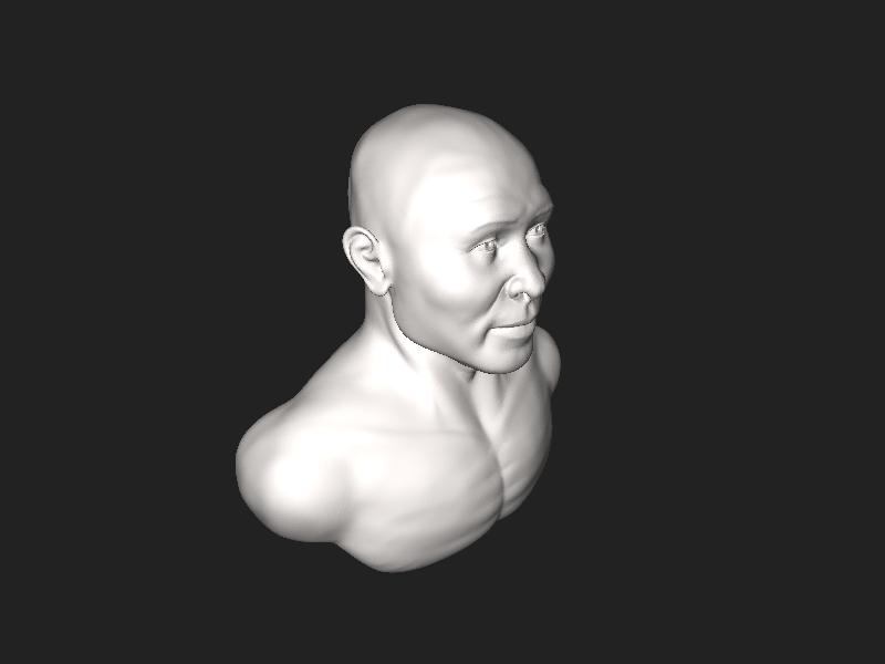 File:Reconstrução facial - busto - Cáceres-MT.stl