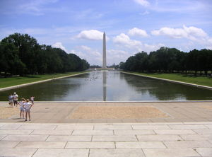 Lincoln Memorial Reflecting Pool - Image: Reflecting pool