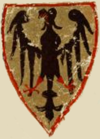 "German nationalism - The Reichsadler (""imperial eagle"") from the coat of arms of Henry VI, Holy Roman Emperor and King of Germany, dated 1304. The Reichsadler is the predecessor of the Bundesadler, the heraldic animal of today's national emblem of Germany."