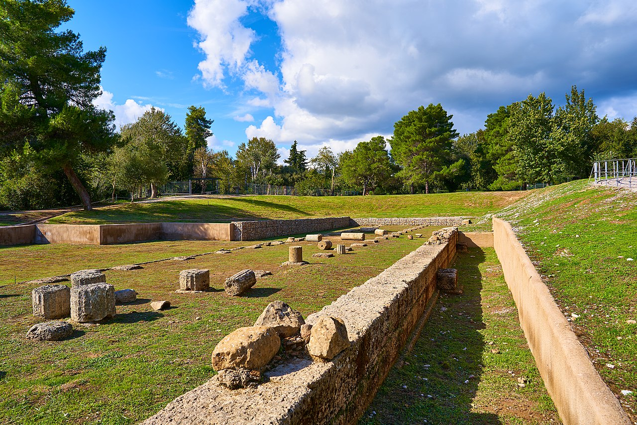 Remains of the Gymnasium in Ancient Olympia on October 14, 2020.jpg