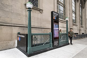 72nd Street (IND Eighth Avenue Line) - Entrance at 72nd Street following the renovations