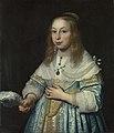 Retrato de jovem rapariga vestida de azul com uma pena de avestruz.jpg