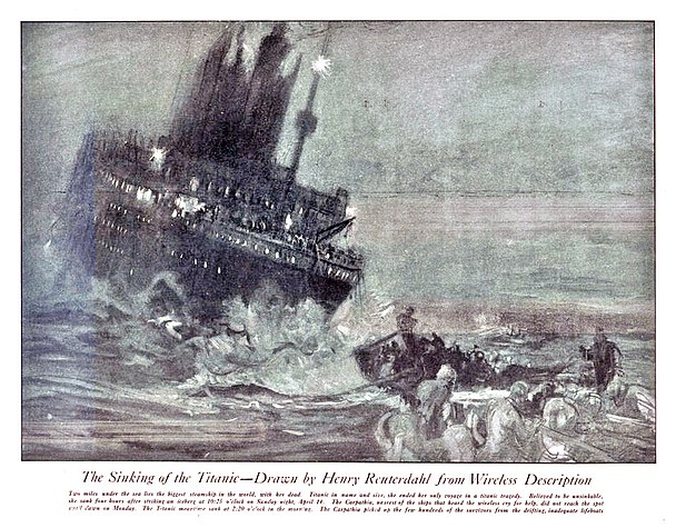 a description of the sinking of the titanic