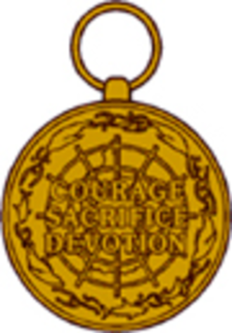Antarctica Service Medal - Image: Reverse Antarctica Service Medal
