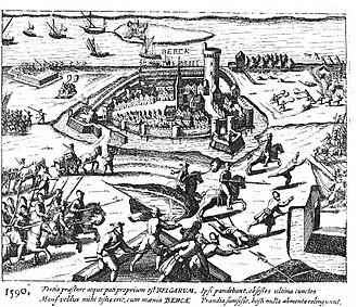 Siege of Rheinberg (1586–90) - The Siege of Rheinberg of 1590 by Peter Ernst von Mansfeld.