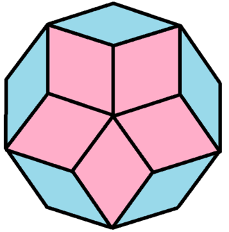 Decagon - Image: Rhomb dissected dodecagon 2
