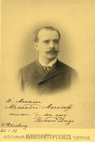 Riccardo Drigo - Maestro Riccardo Eugenio Drigo. St. Petersburg, 1892