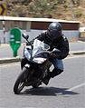 Rider cornering on Yamaha YZF-R15 front.jpg