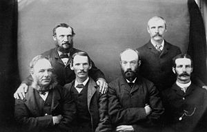 Trial of Louis Riel - Jury of six of Louis Riel's trial